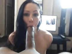 Brunette picked up a black guy with big cock
